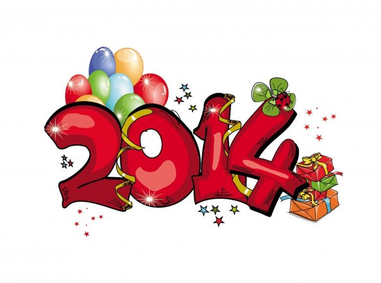 2014 Happy New Year Wallpaper 6 780x580 صور و خلفيات وكفرات لرأس السنة الميلادية 2014 صور مع عبارات تهئة بالعام الميلادي الجديد